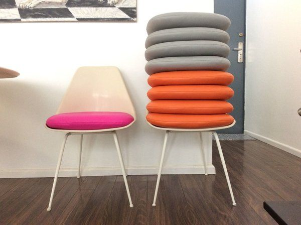 Delightful Vinyl Cushions For Saarinen Tulip Chair Or Burke Tulip Chair Be Sofia Chair  Cushions