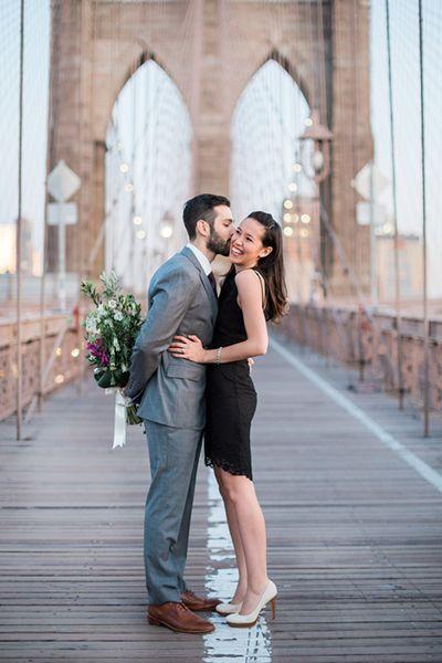Bridge engagement photo