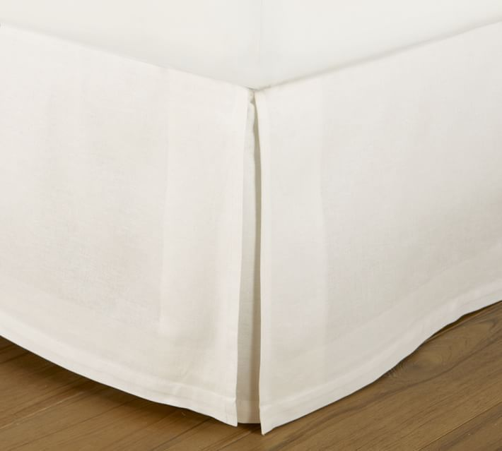 """Pottery Barn Ivory PB Essential 300-Thread Count KING Bed Skirt, 14"""" Drop, New #PotteryBarn"""