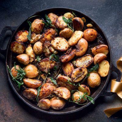 Taste Mag   Crispy balsamic sage potatoes @ https://taste.co.za/recipes/crispy-balsamic-sage-potatoes/