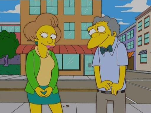 Mrs. Krabappel flirting with Moe