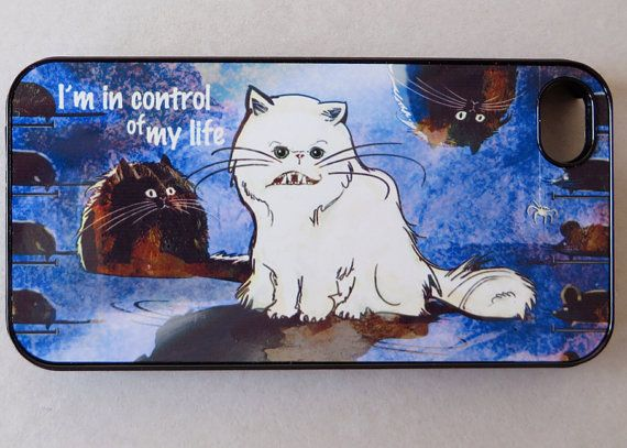 Funny White Cat iPhone 4 case iPhone 4s case  by HappyStripedCats, $15.00