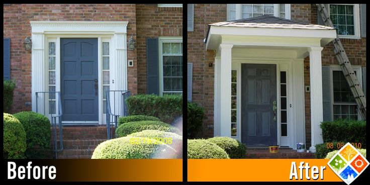 Four Seasons Home Improvement - Roswell, GA, United States. Front door awning project