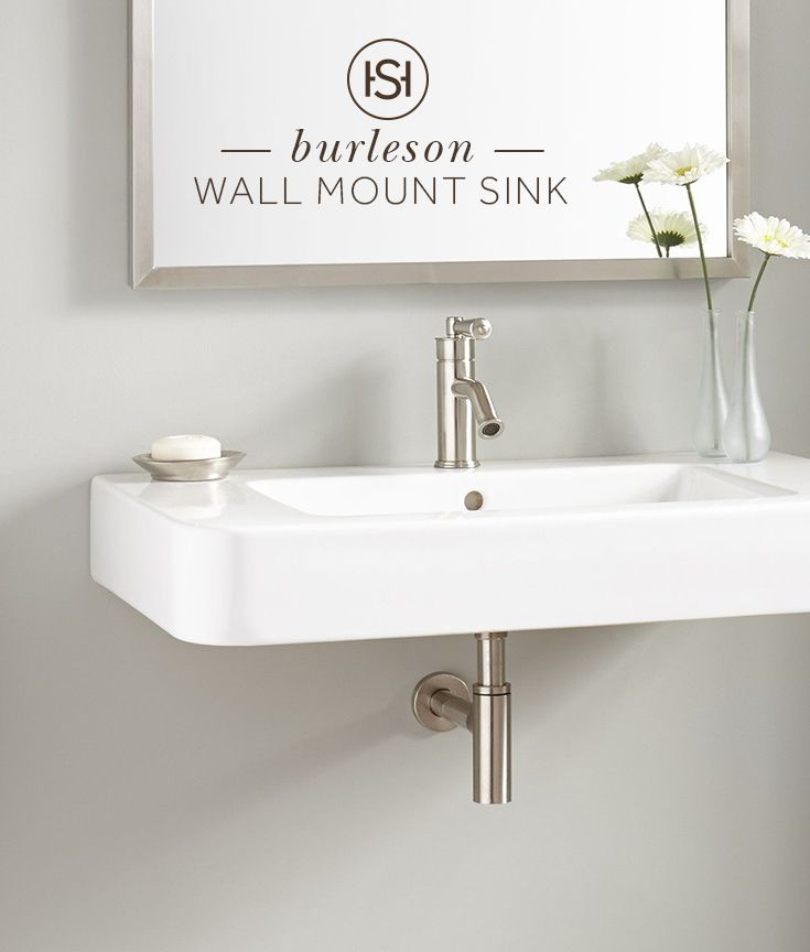 The 34 Burleson Porcelain Wall Mount Sink Is Great For A Small