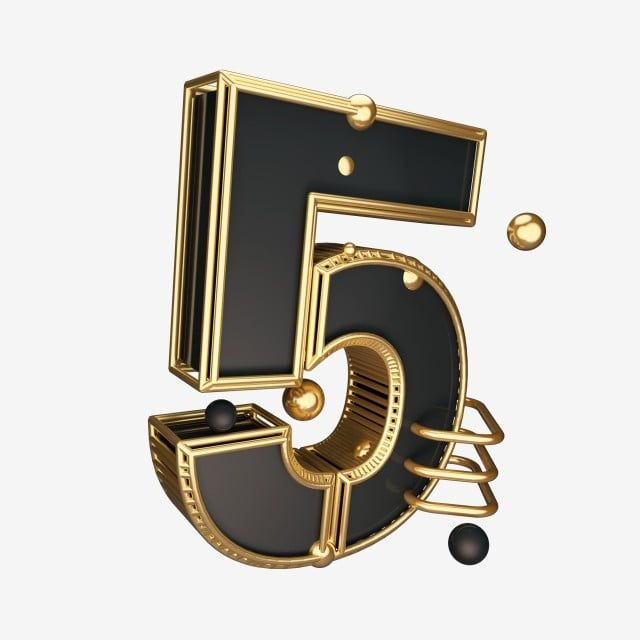 C4d Black Gold Wind Cool Countdown Number 5 5 Clipart Creative Word Commercial Font Png Transparent Clipart Image And Psd File For Free Download Commercial Fonts Cool Stuff Gold