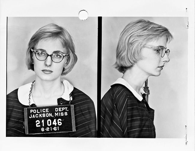 Margaret Leonard, 1961 Margaret, a 19 year old student at Sophie Newcomb College, was the first white Southerner to participate in the Freedom Rides. Her mother, a progressivecolumnistfor theAtlanta Journal, was fired after Margaret's arrest.  Margaret is now retired after a long career as a reporter in Florida.