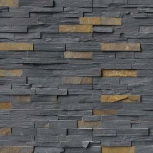 Layer on the texture for a high-style look! Stacked natural stone ledger panels and split face mosaics bring tactile and architectural details to walls you'll love. Create a statement look by transforming an ordinary wall into a stunning feature wall with one of these beauties. Featured: Charcoal Rust Stacked Stone