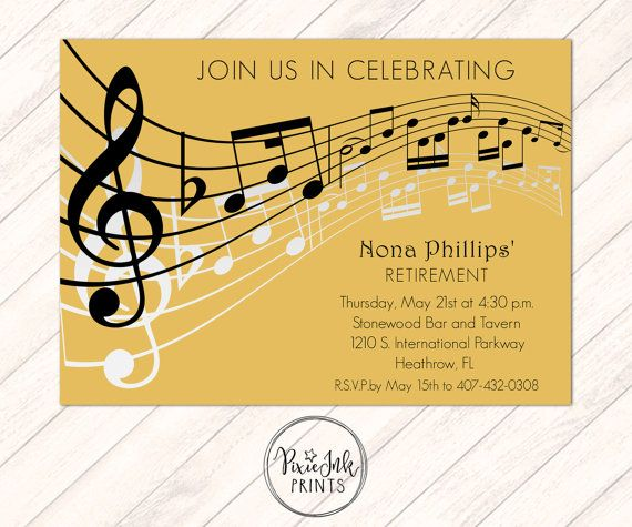 19 best prom invitations school dance invitations images on gold music notes invitation musical party sheet by pixieinkprints stopboris Gallery
