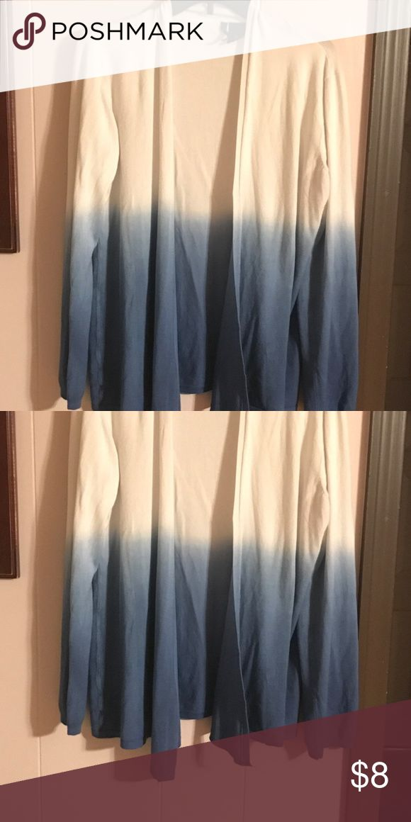 XL Blue and White Cardigan XL Blue and White Cardigan Sweaters Cardigans
