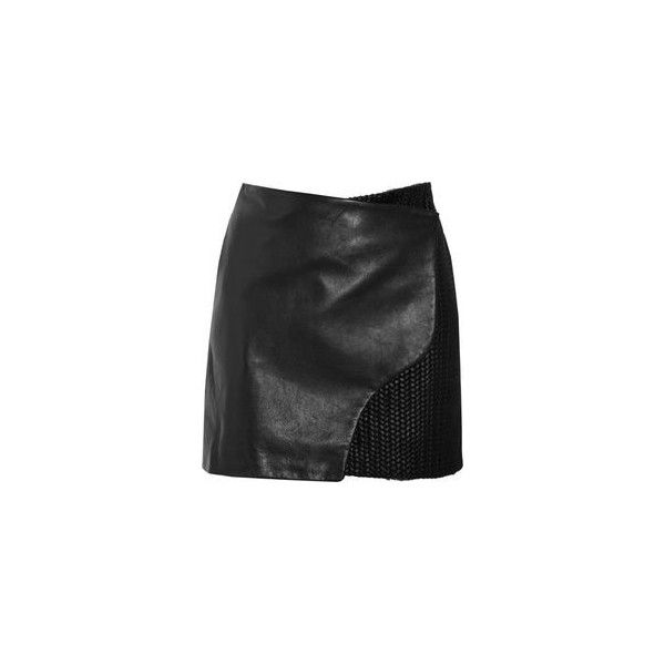 Mini gonne in pelle ❤ liked on Polyvore featuring skirts, mini skirts, real leather skirt, leather miniskirt, mini skirt, short mini skirts and balenciaga