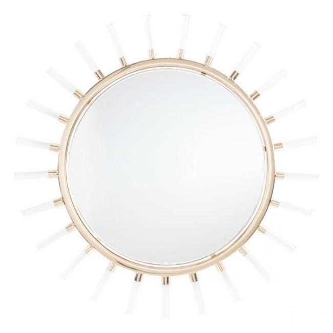 Espejo Modelo Sunglight Dorado Espejos Espejos Decorativos Decoracion Espejos