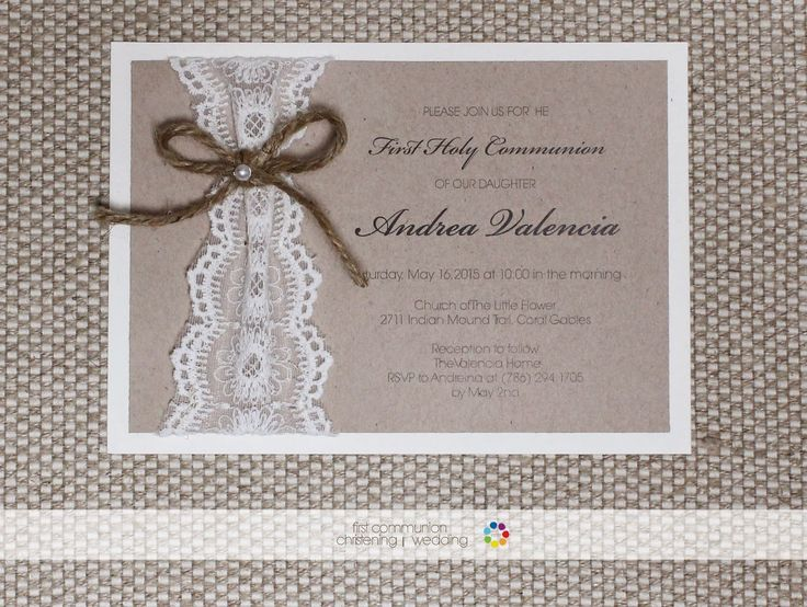 Shabby Chic Invitation | First Communion | Party Favors Place