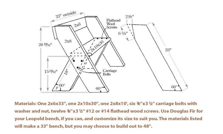 Aldo Leopold garden bench design | Leopold Bench