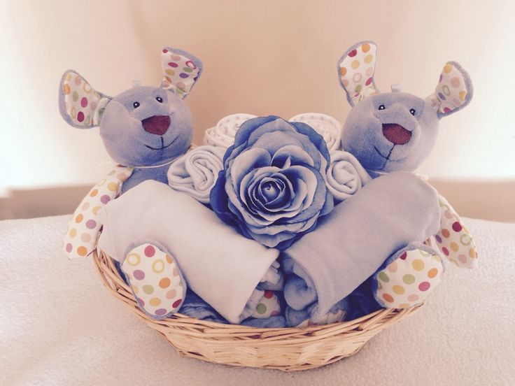 Image of Dotty the Dog Twins - Twin Baby Boys Gift Basket