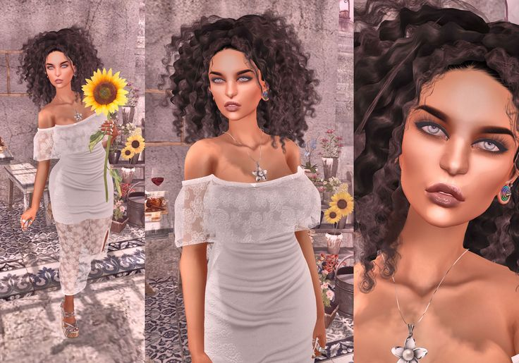 https://flic.kr/p/WGcfMx | Look Nº 648 | Body.- *Mesh head -CATWA HEAD Lona *Skin applier -   *Mesh hair - AD - 42 - blacks *Ears - ^^Swallow^^ Pyramid Ears / *Nails  - Bella Elephante - Illusion (Slink Hands 10 colors) *Lipgloss - .Absence. AbsentGloss Appliers *CATWA&OMEGA* *Eyes - Go&See * Ocean * Catwa Eyes (10 colors)  Clothes and accessories.-  *Dres - [NYNE] Lacy Dress - Plain with Color Picker @anybody Round July *Shoes - ::MA:: KIWI Wedge Heels - PACK {BOX V1} *Necklace - {MYNX}