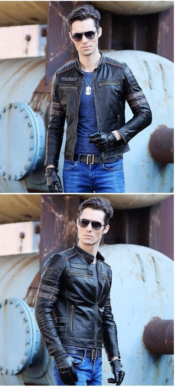 Fashion Outfit For Men,Boyfriend Leather Jacket
