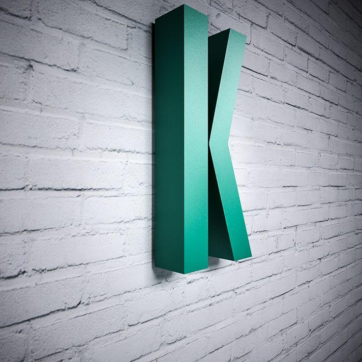 Betű Minimál betűtípussal, színes | Miradea