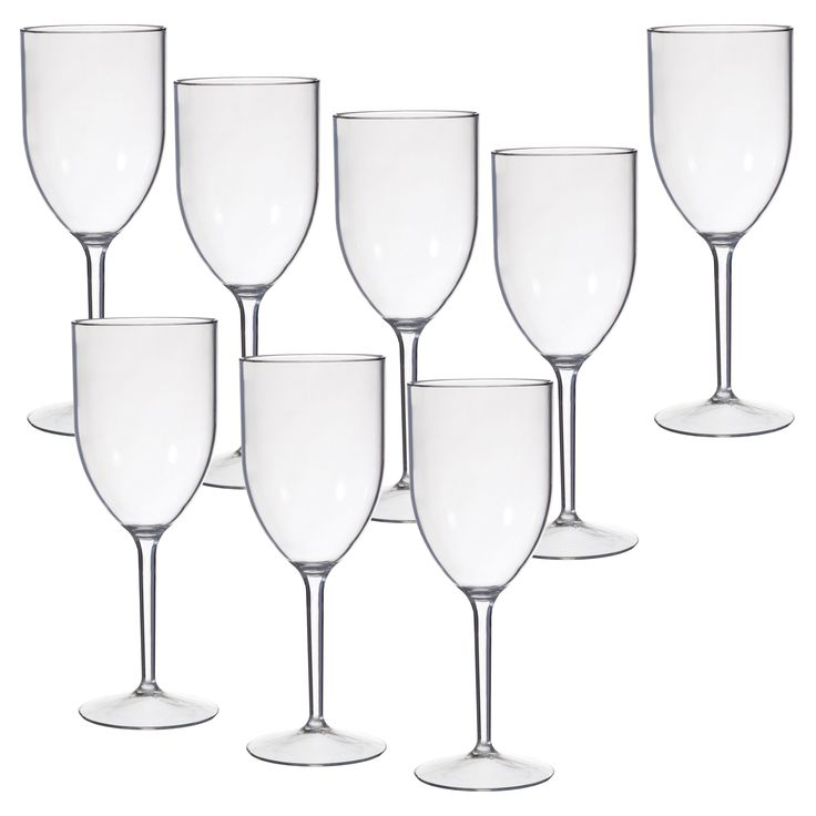 CreativeWare Acrylic Wine Glasses - 8 pc. Set - For some celebrations, glass-breaking is a must. For all others, the must is this Creative Bath Acrylic Wine Glasses - 8 pc. Set . Crafted with...