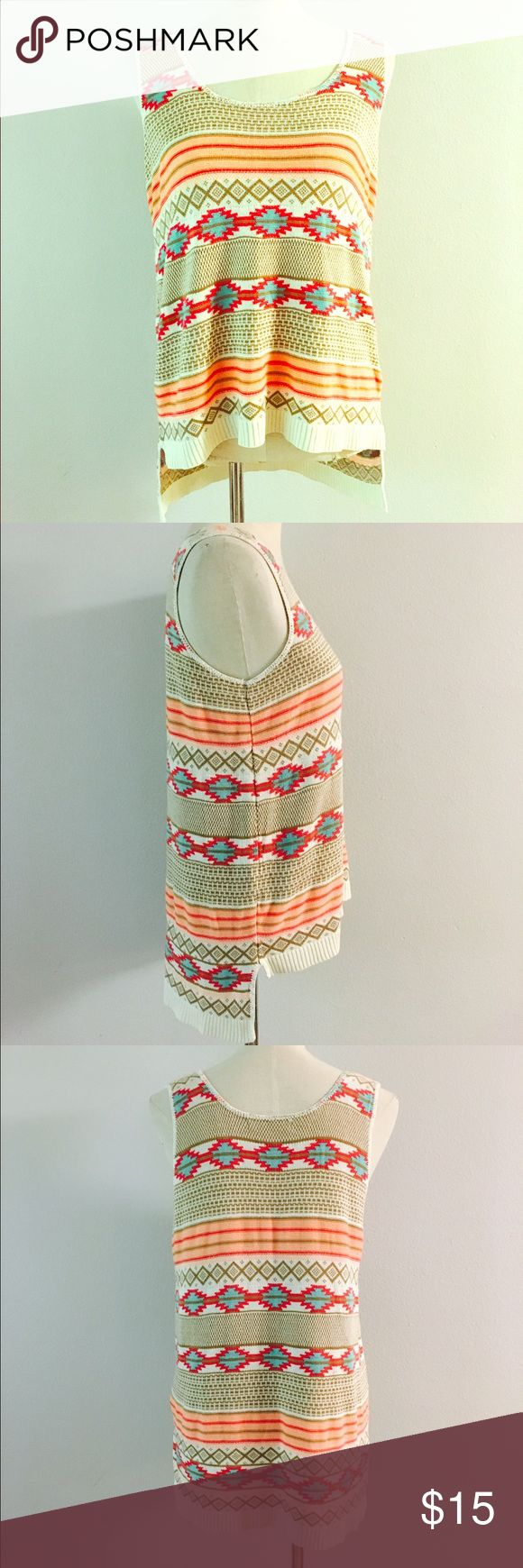 Beautiful Knit Aztec Blouse! Size Large! Tops Blouses