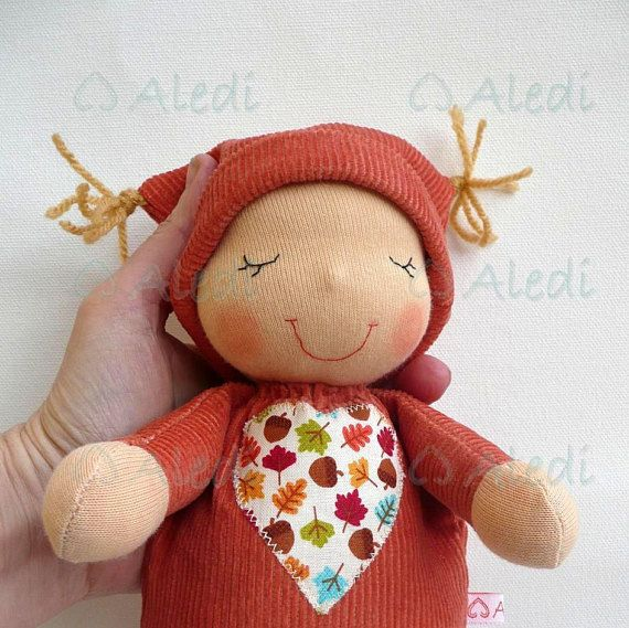 Sleeping baby READY TO SHIP  sleepig fellow Waldorf baby, # Waldorf doll # autumn doll # Custom doll # Rag doll # gift for toddler # gift for boys # sleeping fellow # custom plush # handmade doll # soft toys # steiner doll #