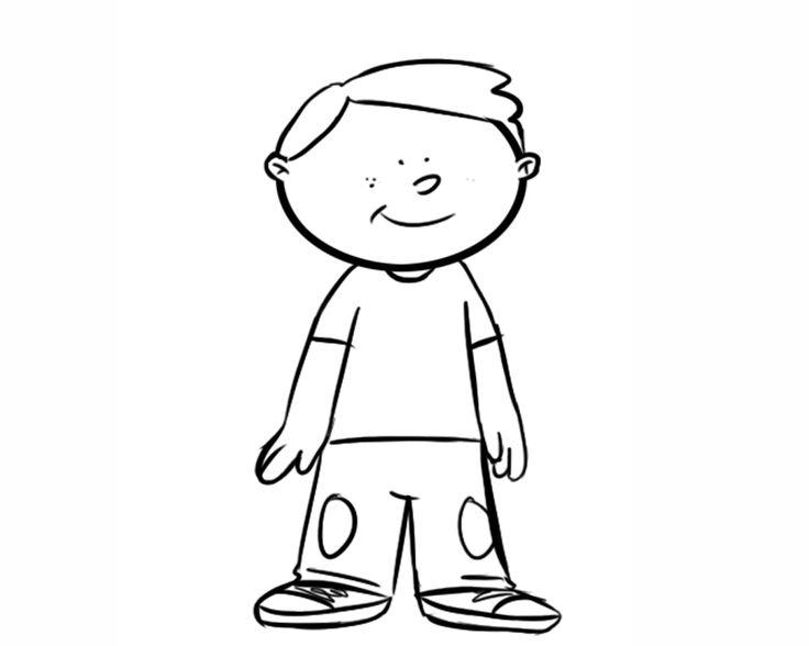 Caricaturas De Niños Para Colorear: Dibujos Para Colorear. Maestra De Infantil Y Primaria