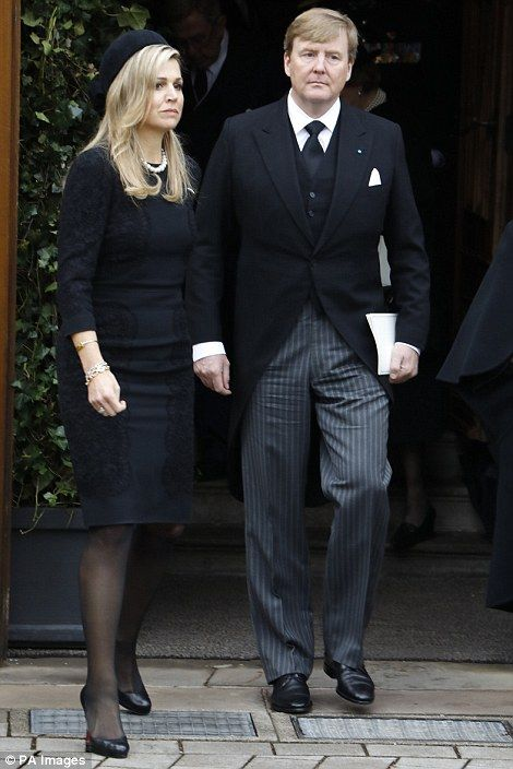 King Willem-Alexander and Queen Maxima, attending memorial service for Prinz Richard who passed away last week