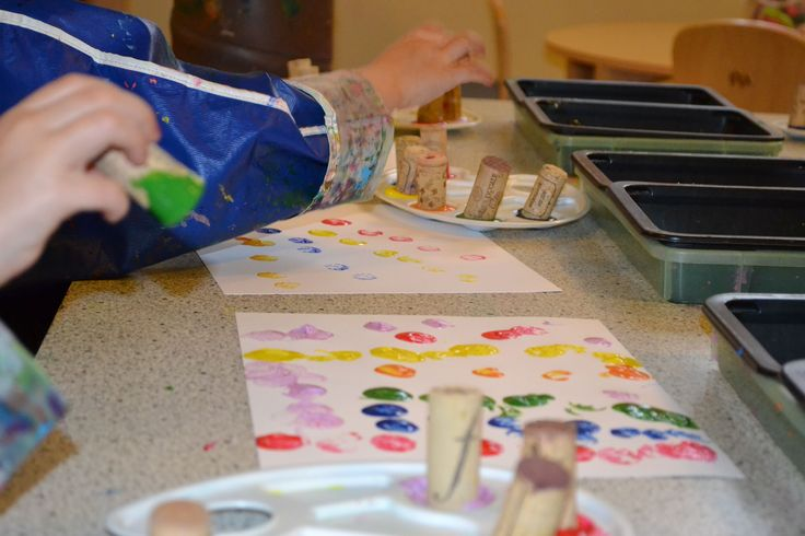 painting with corks