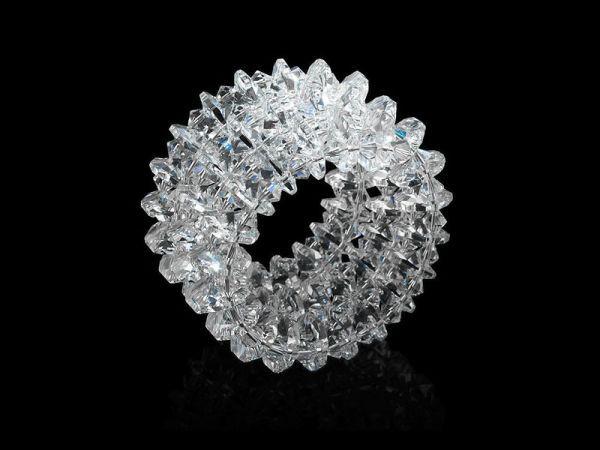 Handmade bracelet made with Swarovski crystals by K.Korn