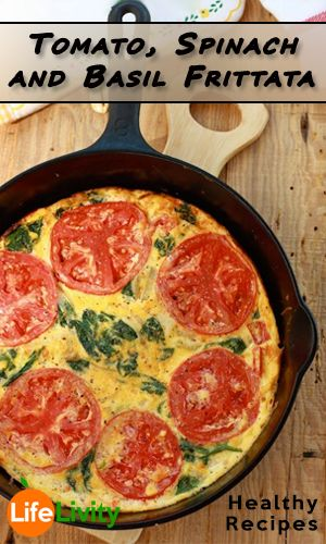 Tomato, Spinach and Basil Frittata		 http://fitering.com/tomato-spinach-basil-frittata/