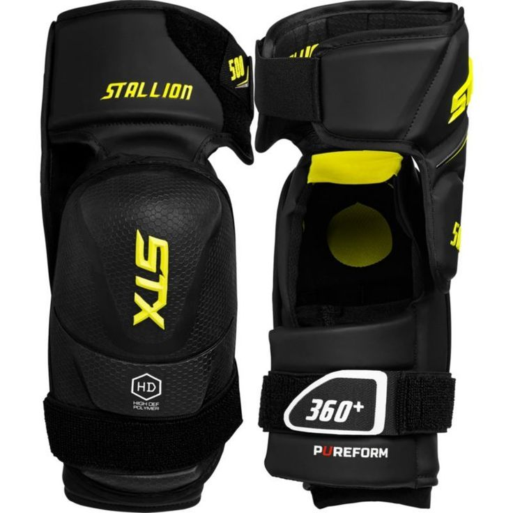 STX Stallion 500 Junior Hockey Elbow Pads, Black