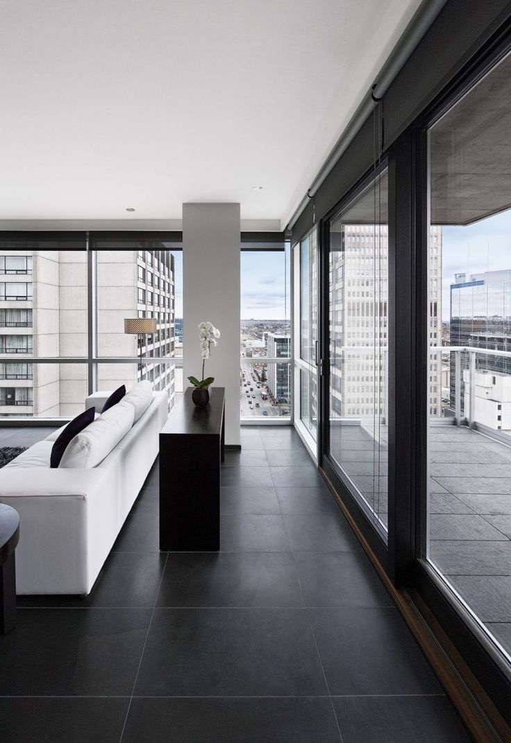 love the bold black & white interiors LEMAYMICHAUD Architecture Design have designed the Germain Hotel in Calgary, Canada.