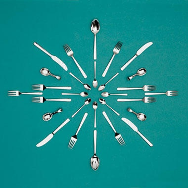 Grand Prix - Kay Bojesen - 1938  This inspires me to use old silverware to make a clock for the kitchen  Kay Bojesen Grand Prix cutlery/flatware