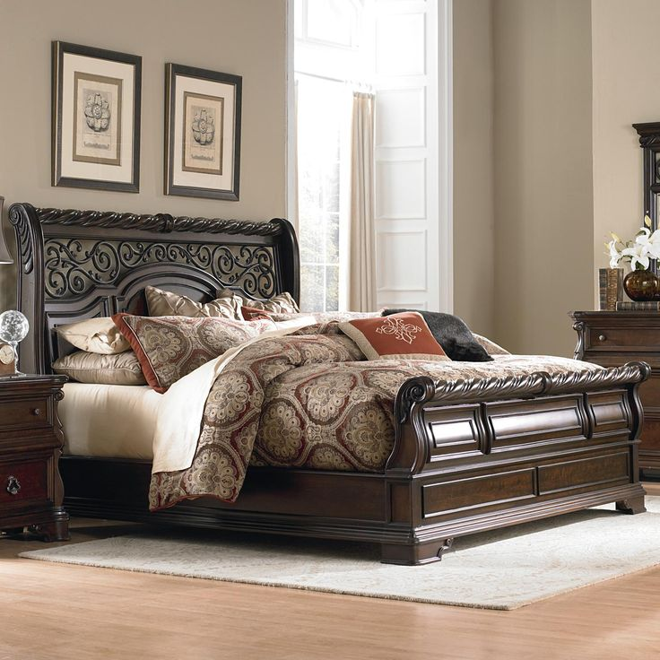 Arbor Place Queen Traditional Sleigh Bed by Liberty Furniture - Great American Home Store - Sleigh Bed Memphis, TN, Southaven, MS