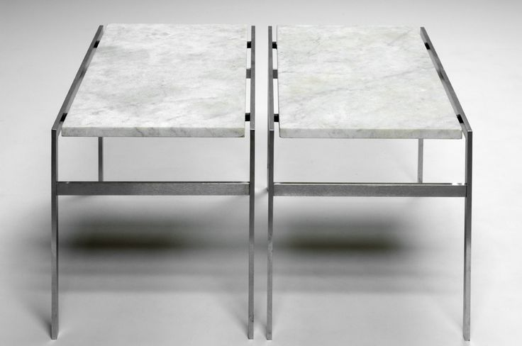 bo-554 side tables in steel and marble. Designed by Fabricius & Kastholm in 1963. Manufactured by bo-ex furniture. http://www.bo-ex.dk/project/bo-550/