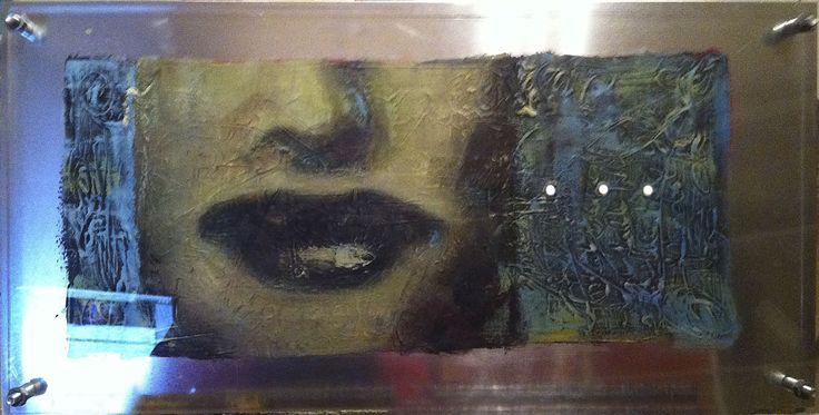 Acrylic paint on aluminum and acrylic  by Elisabeth Takvam