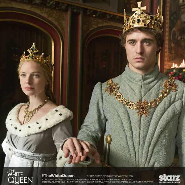 Behind every great man is a powerful and strategic woman. #TheWhiteQueen #maxirons #rebeccaferguson