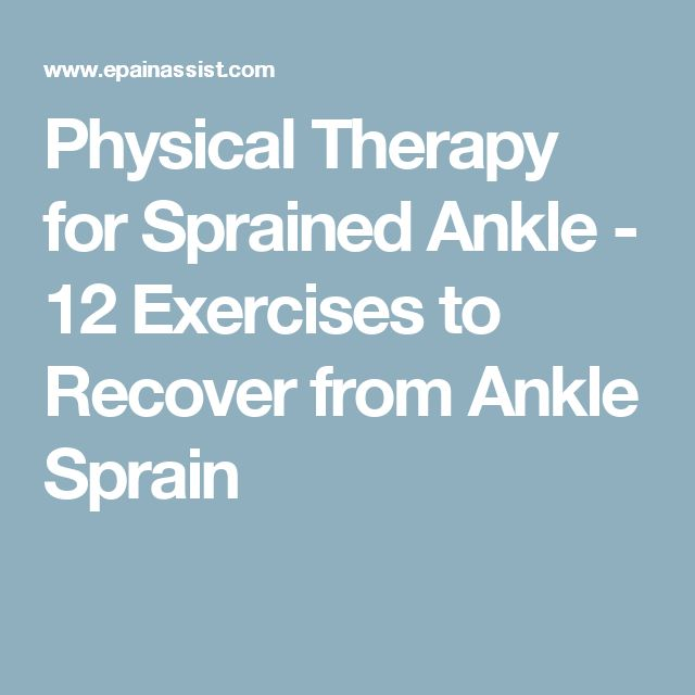 Physical Therapy for Sprained Ankle - 12 Exercises to Recover from Ankle Sprain