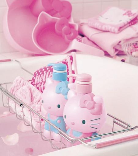 Hello Kitty bathroom.