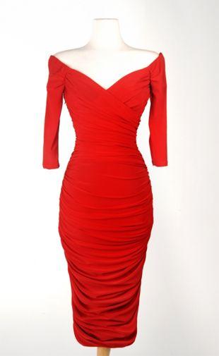 monica dress red