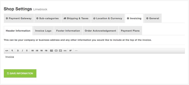 Customize your invoices with your buisness branding