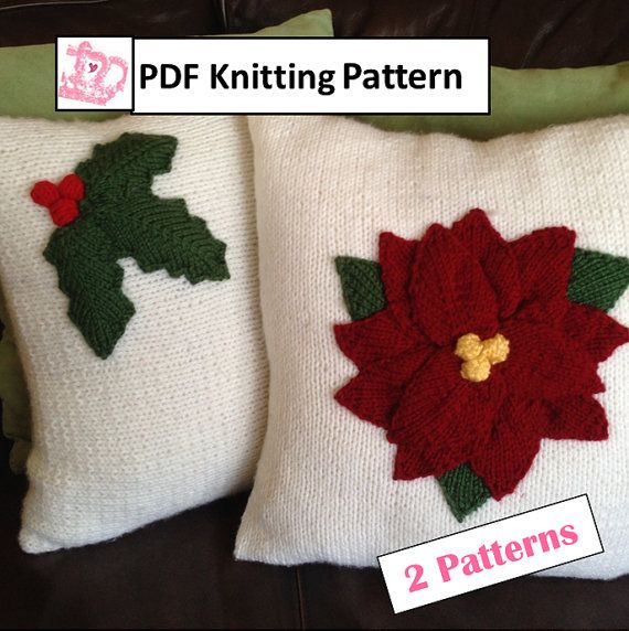 Knitting Pattern Christmas Cushion : The 66 best images about Pillow Cover Knitting Patterns on Pinterest Knit p...