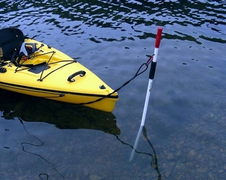 Yak Stick 6FT - Pole Anchor  Soft Bottom Kayak Anchor http://www.bonanza.com/listings/Kayak-Anchor-Stick-6-Foot-Fiberglass-Stake-out-pole/115379963