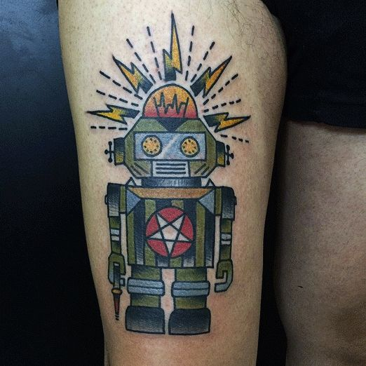 25 Best Ideas About Robot Tattoo On Pinterest Spaceship