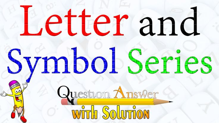 Letter and Symbol Series Question Answer | Youtube 2016