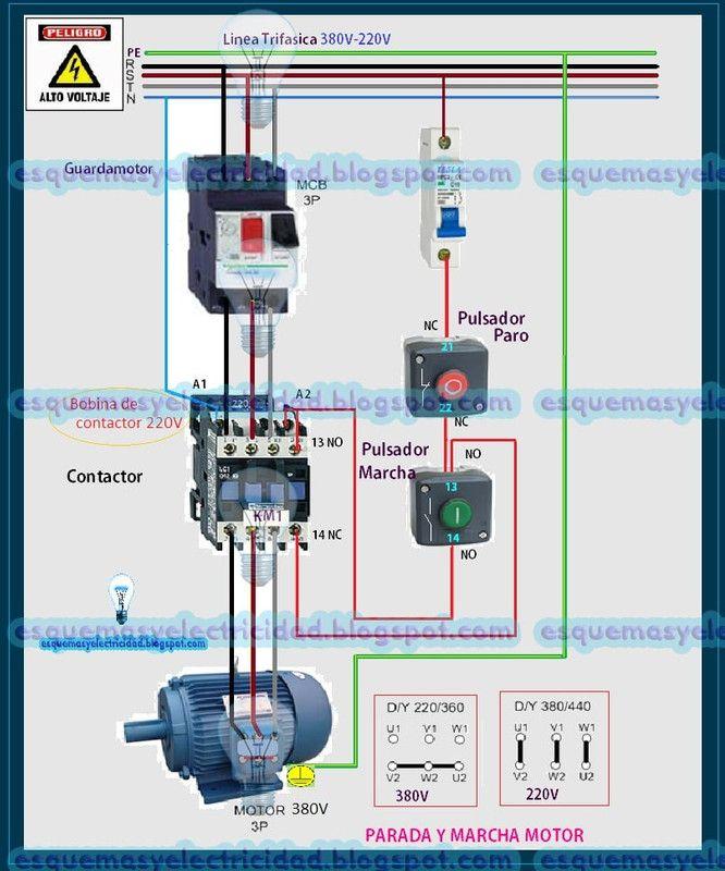 Esquema Trifasico Marcha Paro Con Guardamotor 23 Postimage Org In 2020 Electrical Circuit Diagram Electrical Projects Electrical Wiring Diagram