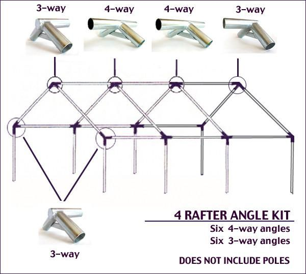 Wilderness Tent Angle Joint Kits Angles 120º Peak Eaves Wall Tent Canvas Wall Tent Tent Sale