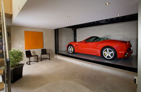 car in living room car elevator to display car in living room in floating 13752