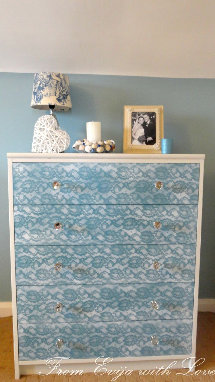 Faux painting furniture - Diy Lace Painted Furniture