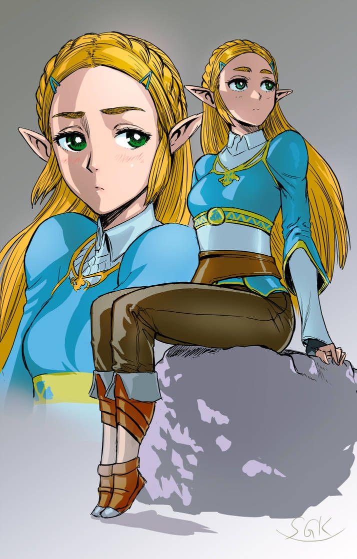 Botw Zelda By Sgk1059 On Deviantart Legend Of Zelda Botw Zelda Breath Of The Wild