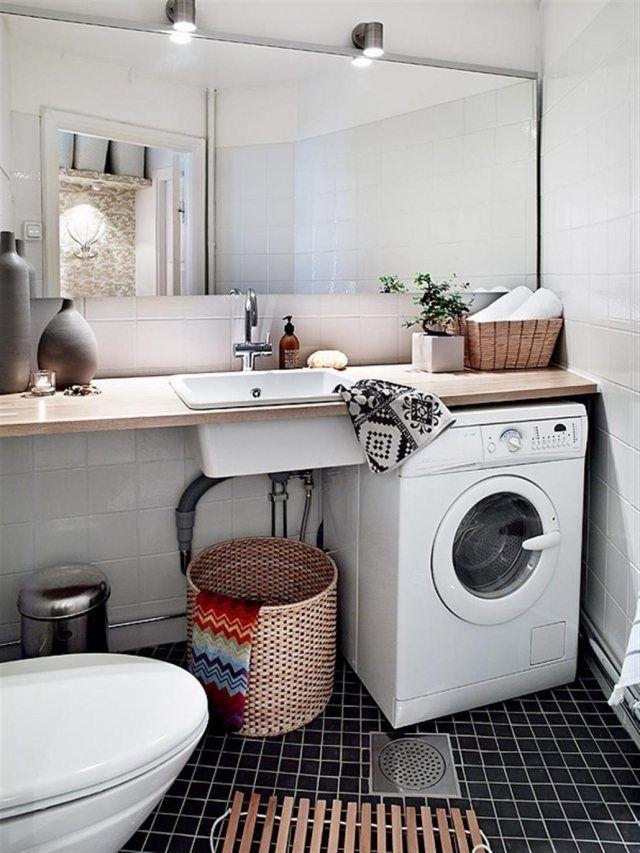 salle bains, toilettes et buanderie avec déco scandinave